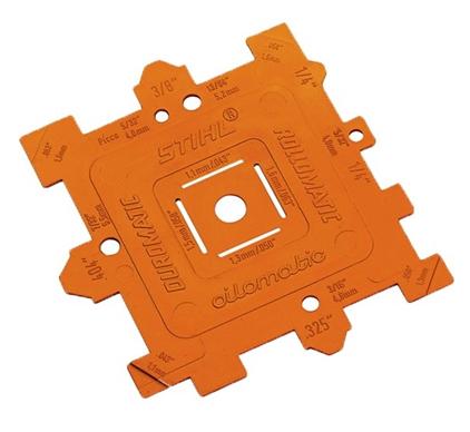 Prosty przyrząd kontrolny umożliwiający sprawdzenie parametrów piły łańcuchowej 00008934105
